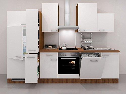 Flex well küchenzeile 310 cm weiß mit geräten como