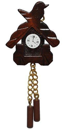 Unbekannt Miniatur Kuckucksuhr - für Puppenstube Maßstab 1:12 - Nostalgie Uhr Wanduhr für Wohzimmer Schwarzwald Puppenhaus