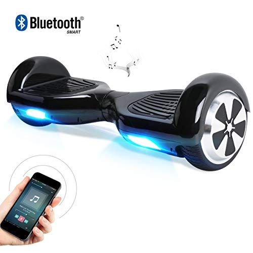 """Windgoo Hoverboard 6.5\"""" Balance Board Patinete Eléctrico Scooter Talla LED, Scooter eléctrico Self-Balance (BL-Black)"""