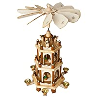 """Brubaker Wooden Christmas Pyramid 3 Levels, Height: 18"""" (45 cm) Hand-painted Figures"""