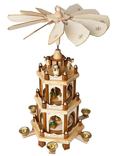 Brubaker Pirámide de Navidad de Madera - 3 Niveles - 45 cms. Alto