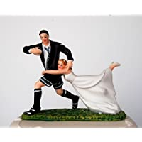 "Wedding Acrylics ""Love Match"" Humorous Cake Topper for Wedding Celebrations, Artificial Resin, Multi-Colour, 5 x 12 x 12 cm"