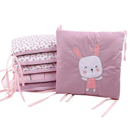 Jiyaru 30 x 30 cm Bettumrandung Baby Nestchen mit Kopfschutz für Babybetten Baumwolle