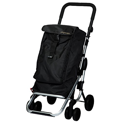 Playmarket Go Up - Carro de compras, capacidad 39,5 l, tapa regulable, bolsa térmica de 6 l, color negro