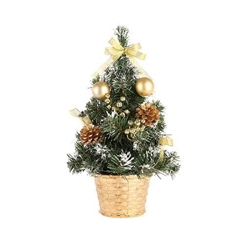 BMEIG Weihnachtsbaum Mini Weihnachtsdeko - 30 cm /12 Zoll Weihnachten Schreibtisch Baum Xmas Künstlich Christbaum rot Gold Tischbaum
