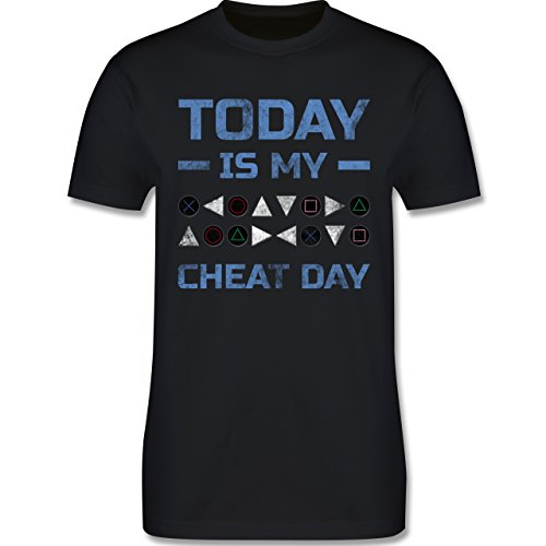 Nerds & Geeks - Today is my cheat day - Herren Premium T-Shirt Schwarz