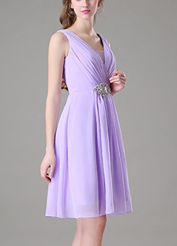 Bridal_Mall - Robe de mariage - Trapèze - Femme Lilas