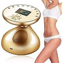 1234 Gesicht Massageger/ät 3D K/örper Massageger/ät K/örper formbare festere Shaper//Muskelentspannung//haut straffen Lift 360/Grad Rotation Massage-Roller Silber