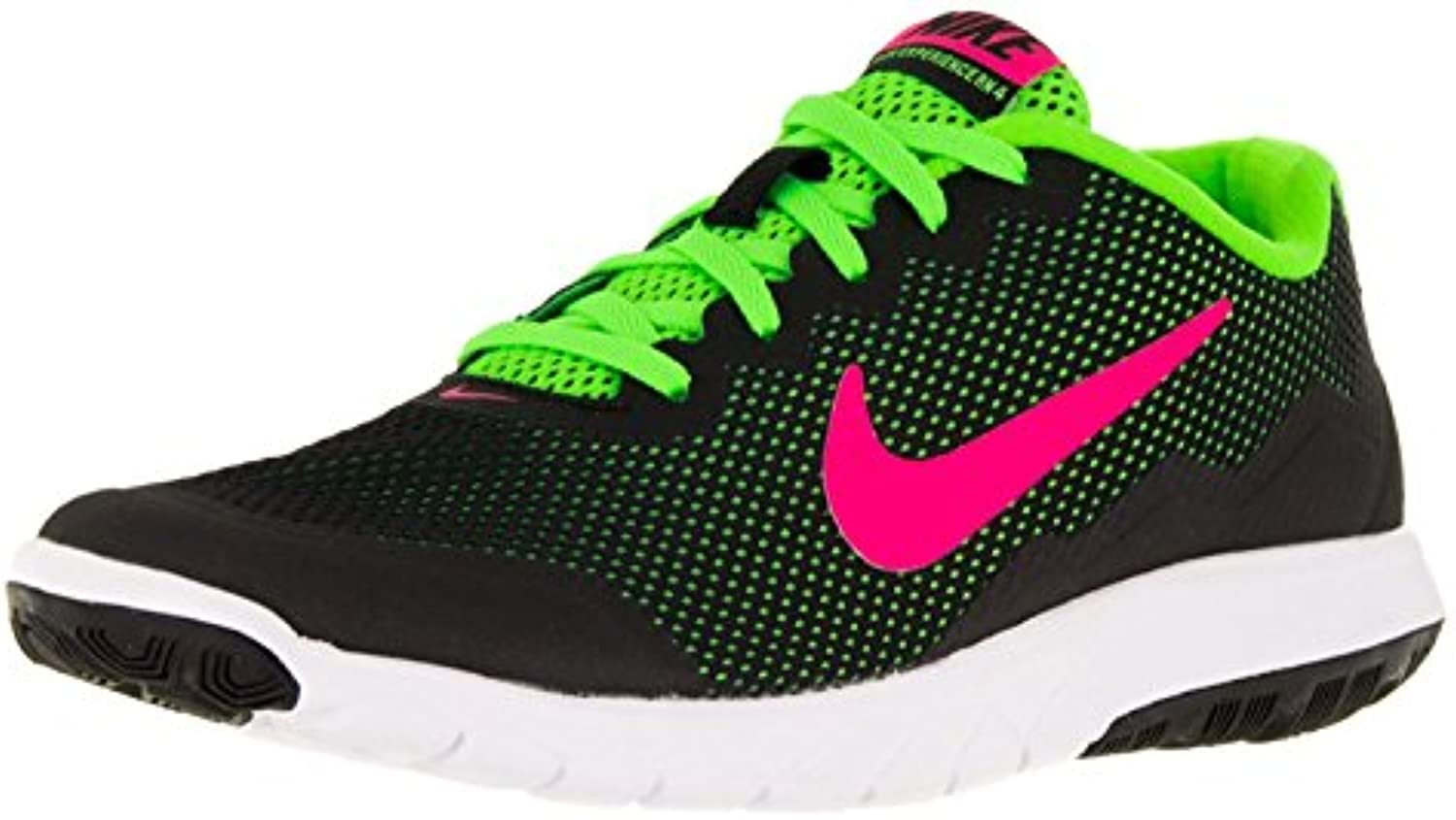 Nike Wmns Flex Experience 4749178 019  Black/Pink Blast/Electric Green/White  40 BM EU/6 BM UK