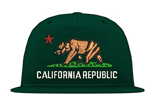 TRVPPY 5 Panel Snapback Cap Modell California Republic, Weiß-Flaschengrün, B610 - Tisa Hat