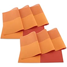 SueH Design Juego de Manteles Individuales de 8 Unidades Rojo en PVC 45 * 30 CM