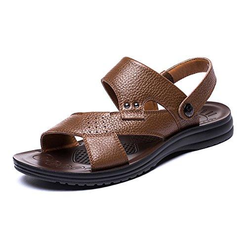 Los Zapatos De Los Hombres De Cuero Transpirables/Las Sandalias Cómodas De Los...