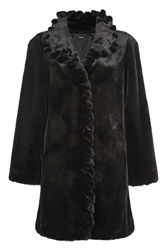 Roman Originals Women's Twist Front Detail Faux Fur Coat