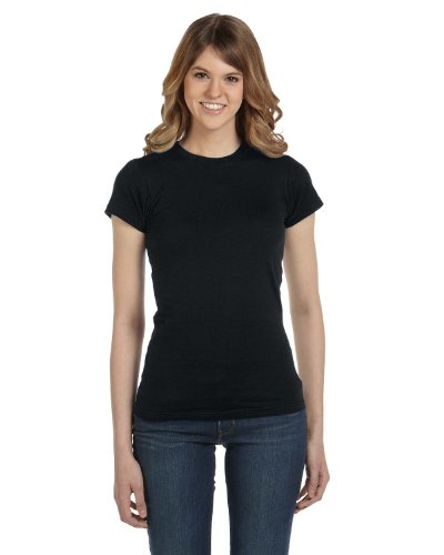 Anvil Women´s Fashion Basic Fitted Tee Black