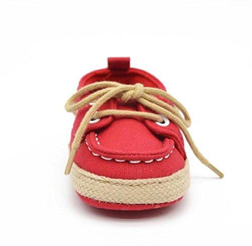 Elyseesen Bébé Enfant Kid Boy Girl Soft Sneaker Toddler Shoes Rouge