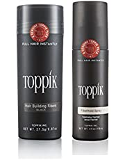 Toppik Hair Building Fibers Black 275 g and Fiber Hold Spra