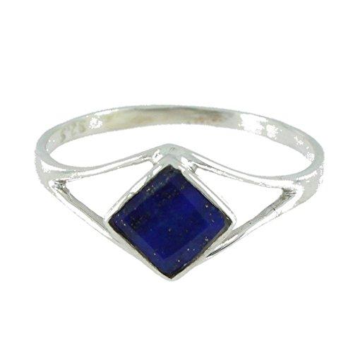 Ring mit Lapis Lazuli 18-03 - Schmuck silbern-rhodiniert aus Lapis Lazuli - Alle Größen und verschiedene Steine - ARTIPOL