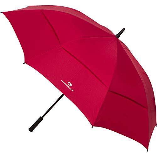 Procella Golf Regenschirm Golf Schirm, Regenschirm Groß - Sturmfester Stockschirm Automatik - von Fallschirmspringern getestet, Schützt Vor Regen, Wind Und Sonne - Rot