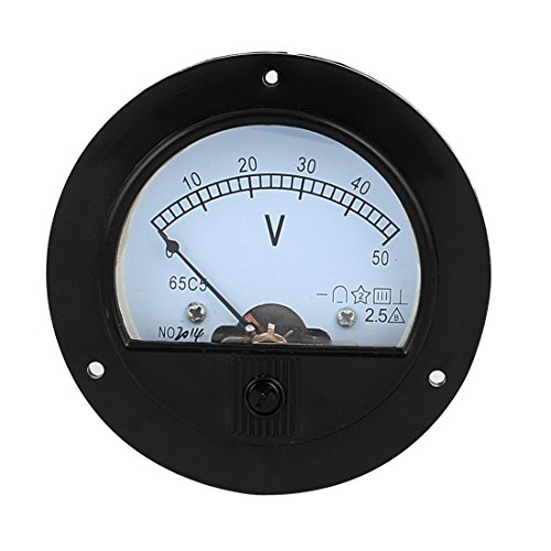 sourcingmap® DC 50V Analog Platte Messlehre Klasse 2,5 Spannung Meter Voltmeter de 50v Analog