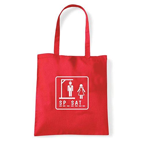 Art T-shirt, Borsa Shoulder Sp-sat-, Shopper, Mare Rosso