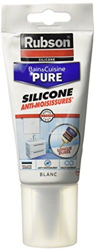 Rubson ideal - Tubo de silicona para sanitarios y cocina (150 ml), color blanco