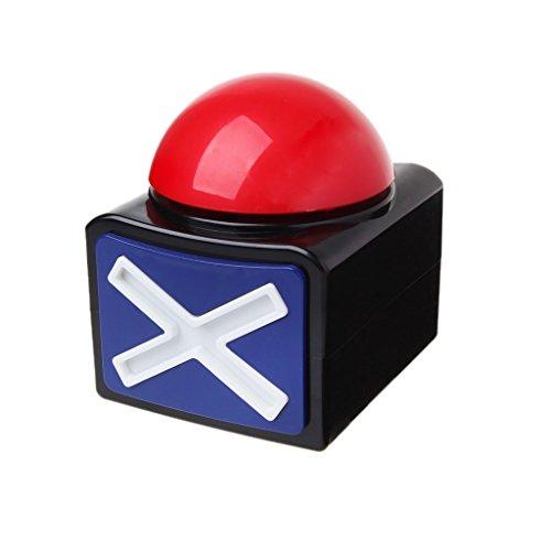 Xurgm XL Buzzer Button Alarmknopf mit Sound und Licht Quiz Quizspiel 1-5 Stück (4 Stück)
