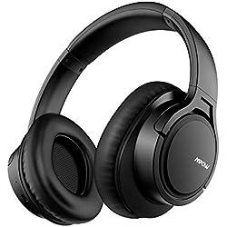 Mpow H7 Casque Bluetooth sans Fil, Casque Audio Oreillette Bluetooth avec 18-25 Heures de Jeu, Cache-Oreilles Confortable et Son Haute Fidélité pour Téléphone/Tablettes/PC