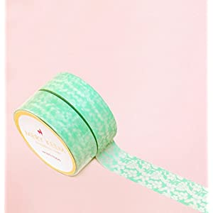 Vintage Mint Lace Washi Tape for