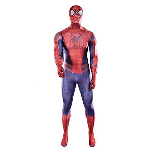 SEJNGF Superheld Spiderman Cosplay Siamesische Strumpfhose Halloween Charakter Showkostüm Avengers Set (Kopfbedeckung Kann Getrennt ()