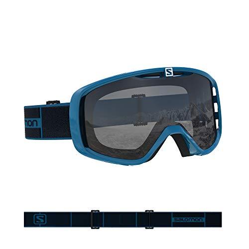 Salomon, Aksium Access, Máscara de esquí unisex, Blanco/Naranja (Universal Tonic), L39082800