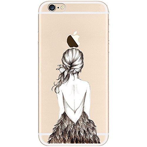 Cover Per iPhone 4S,Hippolo Custodia Protettiva Shell Case Cover Per iPhone 4S in Silicone TPU (Per iPhone 4S, 8) 10