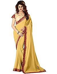 Greenvilla Designs Yellow Silk Saree With Blouse