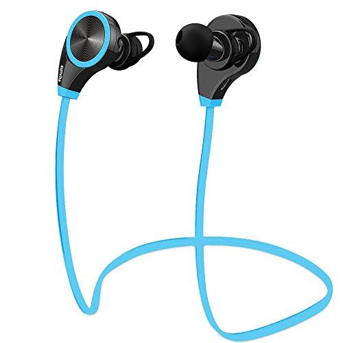 Sunvito Auriculares Estéreo Bluetooth 4.0 Cascos Inálambrico Deportivos con Mic Manos Libres Llamadas y Ruido Cancelación CVC 6.0 para Smartphones y Otros Dispositivos Bluetooth (Azul)