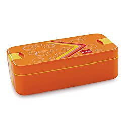 Cello Food Mate Snap Lock Plastic Lunch Box, 713ml, Orange
