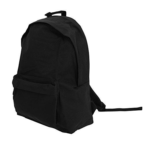 Bagbase Maxi Fashion Rucksack, 22 Liter (One Size) (Schwarz)