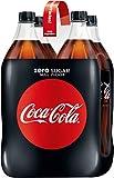 Coca-Cola Zero Sugar / Koffeinhaltiges Erfrischungsgetränk in stylischen Flaschen mit originalem Coca-Cola Geschmack - null Zucker und ohne Kalorien / 4 x 1,5 Liter Einweg Flasche