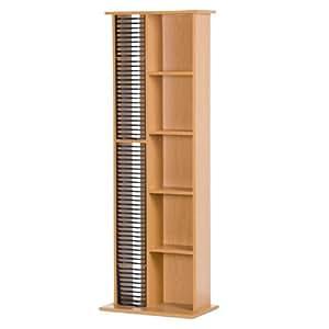 Colonna porta cd piantana per 63 cd e 14 dvd legno 40 x 24 - Porta dvd in legno ...
