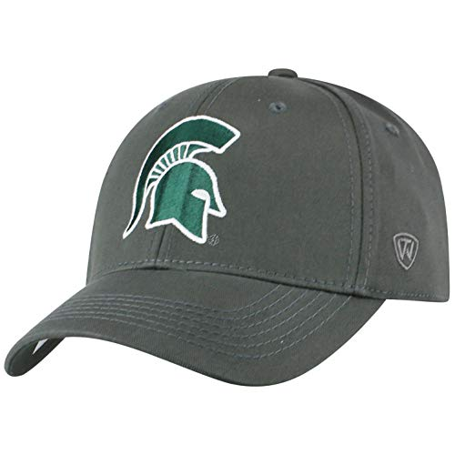 Top of the World Herren Mütze NCAA Fitted Charcoal Icon, Herren, NCAA Men's Fitted Hat Relaxed Fit Charcoal Icon, Michigan State Spartans Charcoal, Einstellbar
