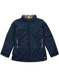 Aquascutum Junior Girls Buckingham Navy Trench Coat -Blue-10 years