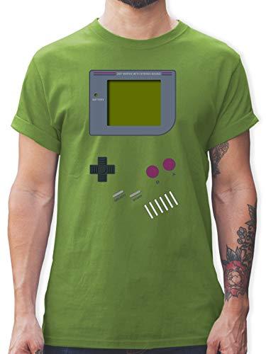 Nerds & Geeks - Gameboy - XXL - Hellgrün - L190 - Herren T-Shirt und Männer - Kostüm Nerd Girls