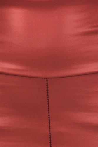 Sakkas Matte Flüssigkeit mit hoher Taille Strecken-Leggings - Hergestellt in den USA Burgund