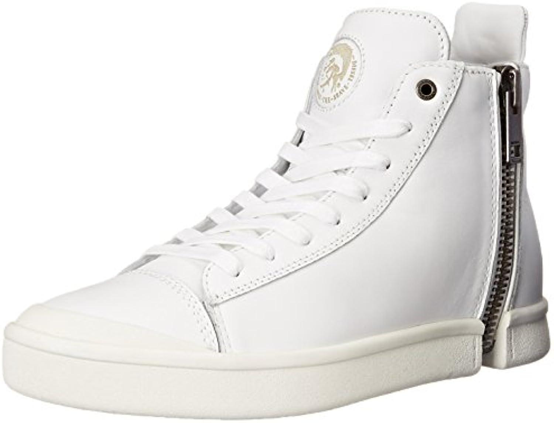 Diesel Schuhe Herren Y00791 P0078 T1003 Leder Sneaker Boots Weiß Men