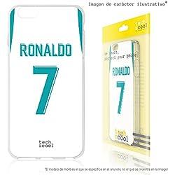 FunnyTech® Funda Silicona para BQ Aquaris u Lite [Gel Silicona Flexible Alta Calidad] [Ultra Slim 1,5mm-Gran Resistencia] [Diseño Exclusivo, Impresión Alta Definición] [Camiseta Ronaldo Real Madrid]