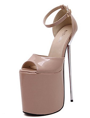 WSS 2016 Chaussures Femme-Habillé / Soirée & Evénement-Noir / Rouge / Argent / Or / Amande-Talon Aiguille-Bout Ouvert / A Plateau / Confort- black-us6.5-7 / eu37 / uk4.5-5 / cn37