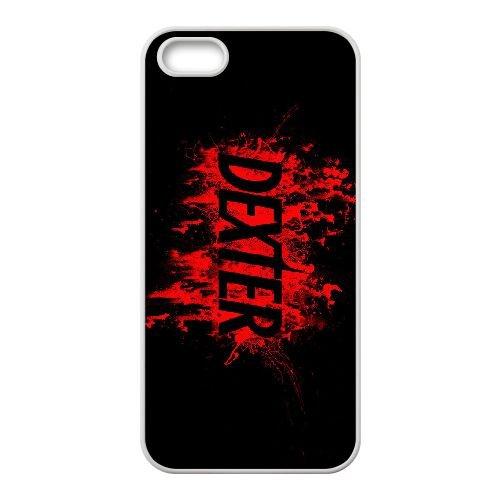 Dexter Blood coque iPhone 5 5S Housse Blanc téléphone portable couverture de cas coque EBDXJKNBO09488