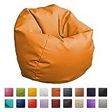 Puff Pelota 60cm diámetro (Naranja)