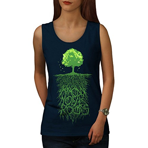 Erde Baum Wurzeln Natur Damen S-2XL Muskelshirt | Wellcoda Navy