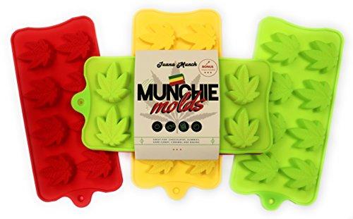 Silikon Formen für Candy | Blattform Form Tablett-3Pack | ideal für Hard Candy, Gummy, Chocolate Truffle, caramel, Gelatine, Jello, auch Ice. (Candy Caramel Englisch)