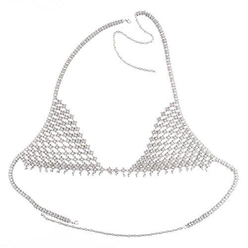 Preisvergleich Produktbild OverDose Retro Art und Weisesilber Büstenhalter Körper hängender Halsketten Ketten bikini