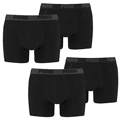 Puma Basic Boxer Herren Short 4 Stück , Underwear- Gr. M, schwarz